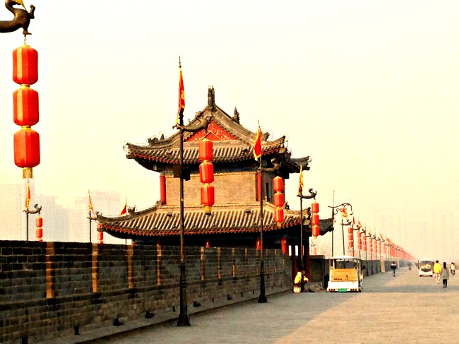 China: Xi'an's Ancient City Wall...1300 years old and 13 km's long.
