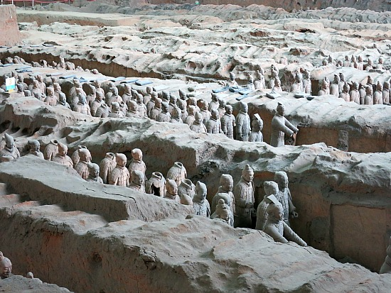Terracotta Warriors In line