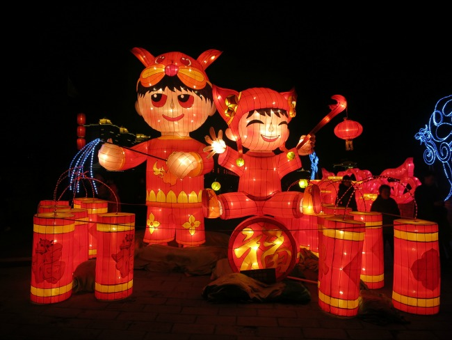 Xian City Wall lanterns on Display
