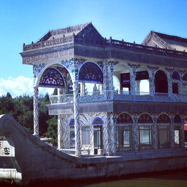 Visiting Marble Boat at Summer Palace