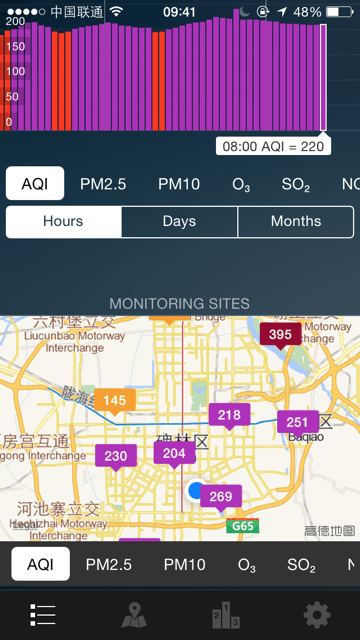 Pollution phone app