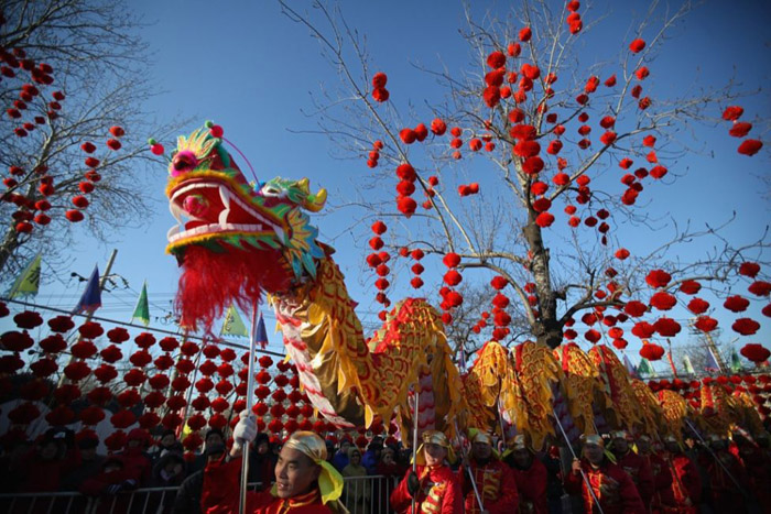 red lanterns for spring festival