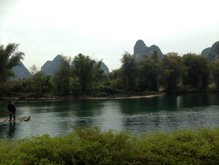 Bamboo rafting Yangshuo China
