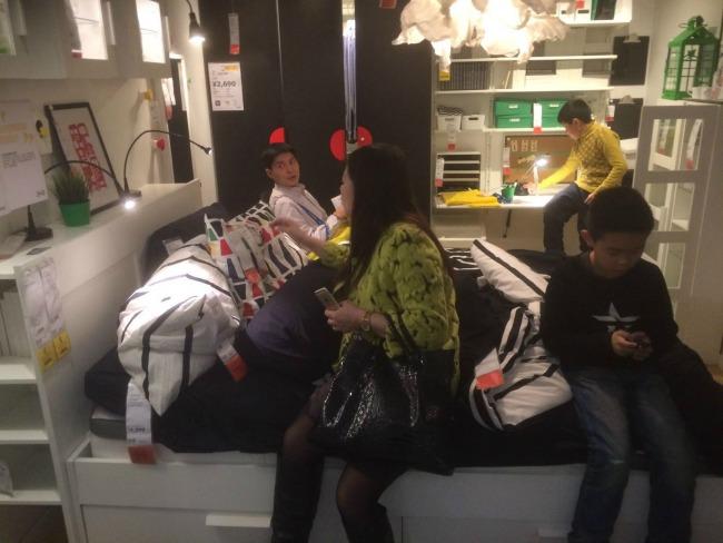 Ikea lounging around