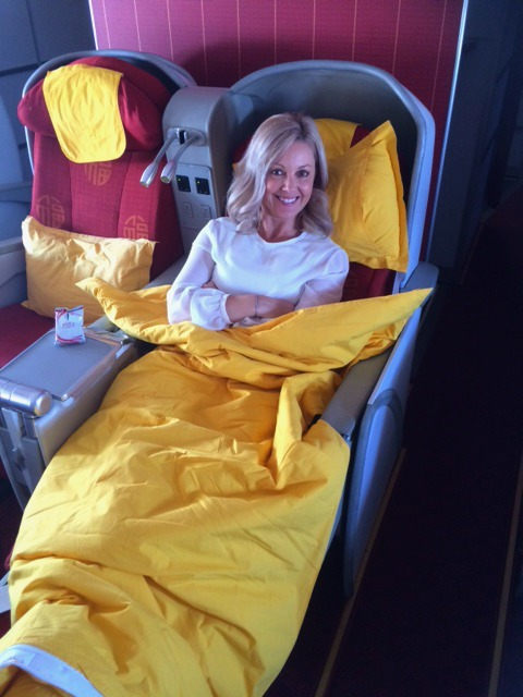 Flying first class in China
