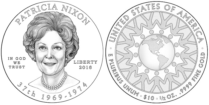 2016 Reagan Dollar Images and First Spouse Design