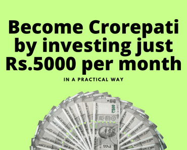 This image of talks about of becoming crorepati by investing Rs.5000 per month