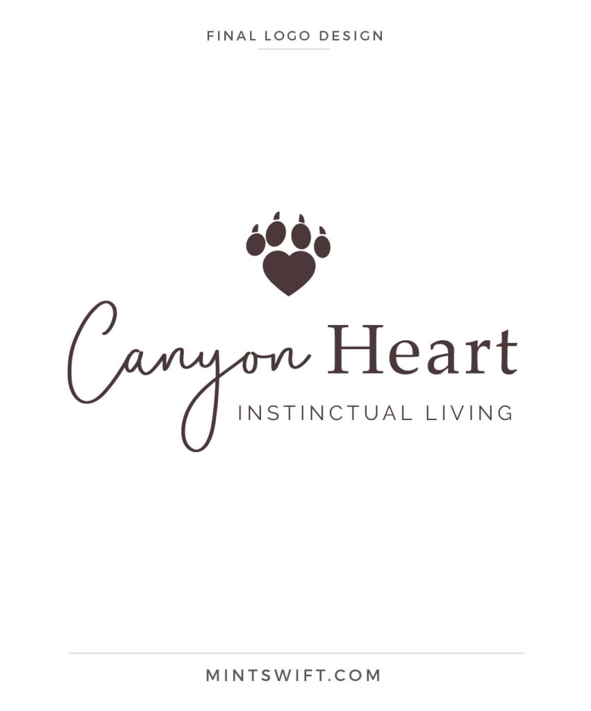 Canyon Heart - final logo design - MintSwift