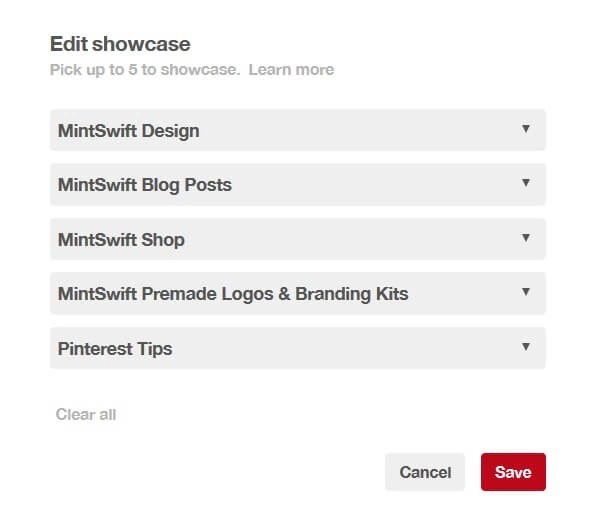 How to create a Pinterest Showcase for Your Blog & Business MintSwift