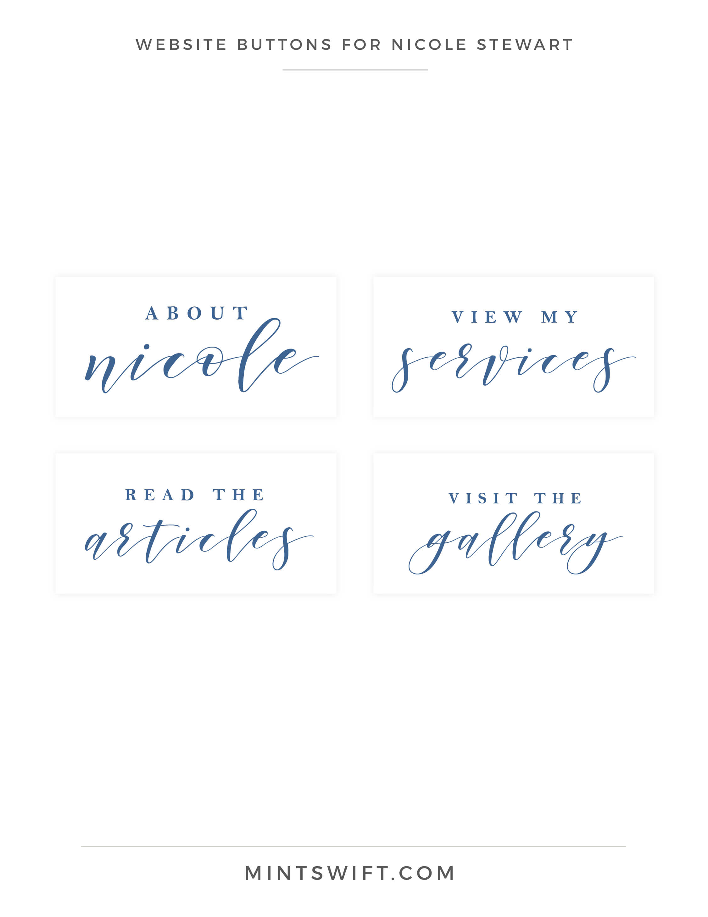 Nicole Stewart - Website Buttons - Brand Design Package - MintSwift