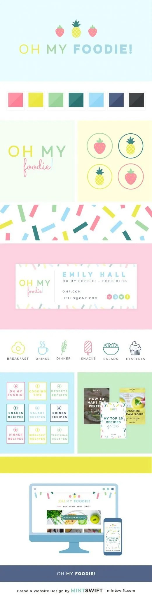 Oh My Foodie - Brand & Website Design Package - MintSwift