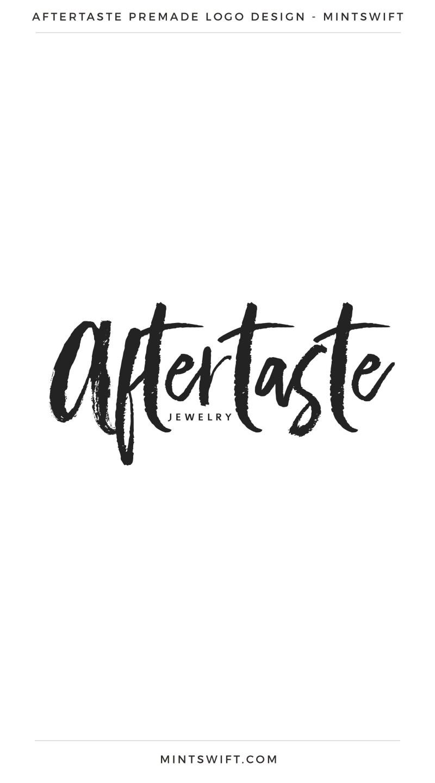 Aftertaste Premade Logo – MintSwift
