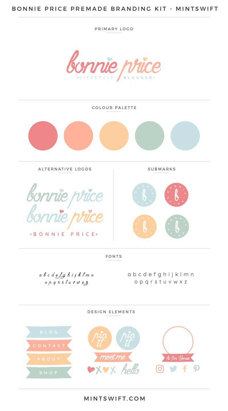 Bonnie Price Premade Branding Kit – MintSwift