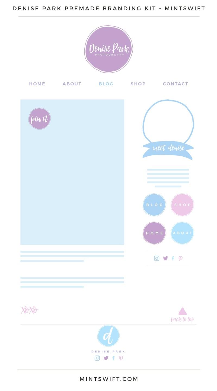 Denise Park Premade Branding, Website & Blog Design Kit – MintSwift