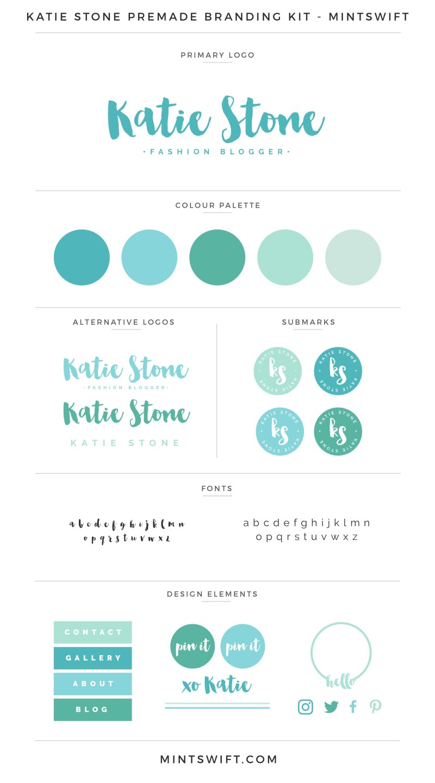Katie Stone Premade Branding Kit – MintSwift