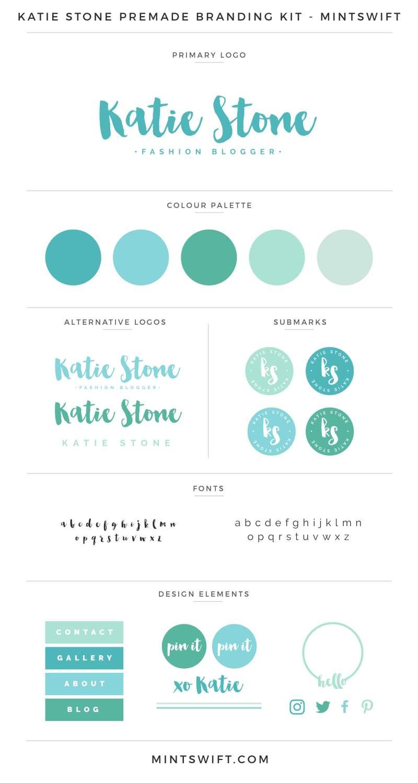 Katie Stone Premade Branding Kit