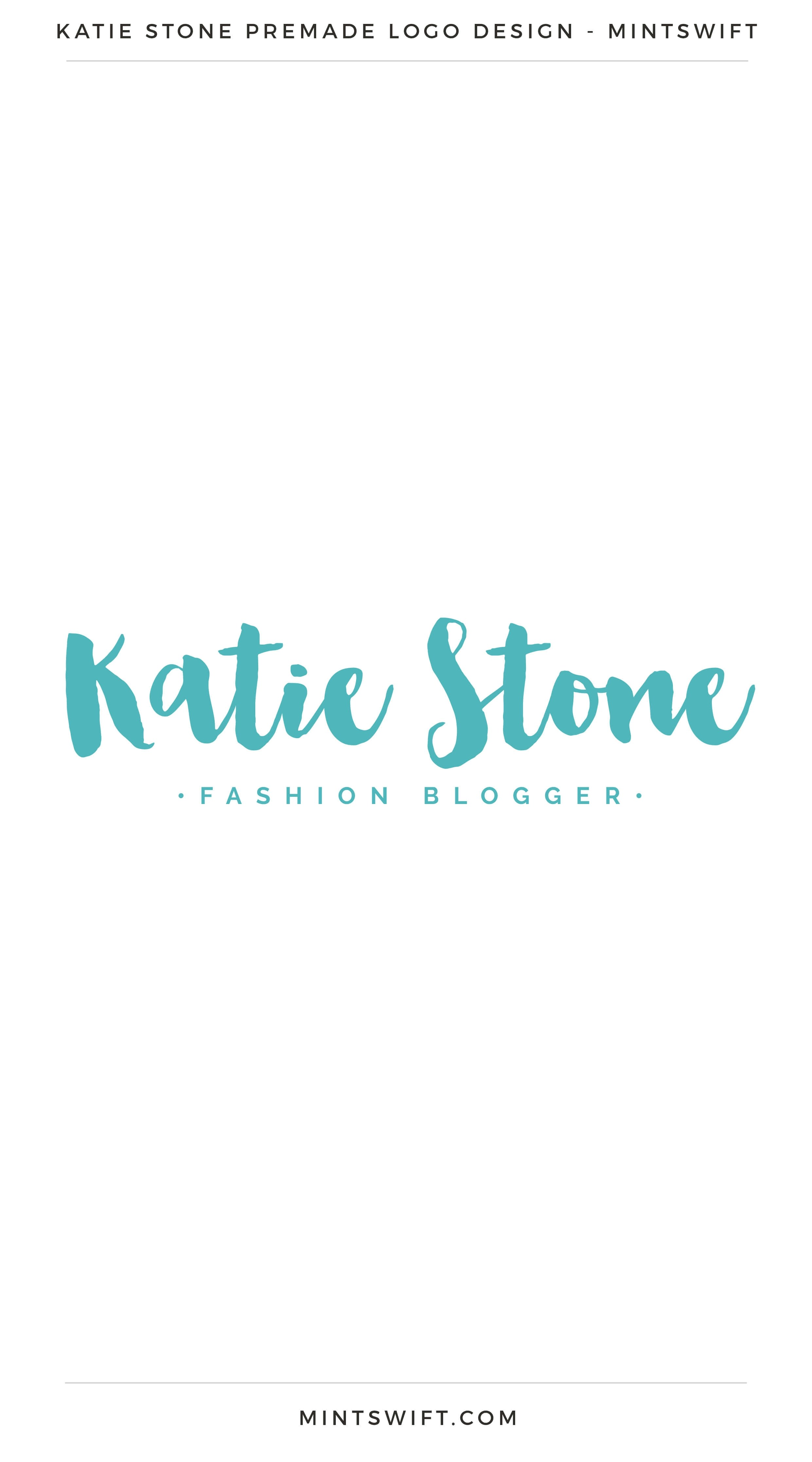 Katie Stone Premade Logo | Premade Logo | Premade logos | Pre-made logo | Premade Brand Design| Branding | Brand Design | Logo Shop | Branding kits shop | MintSwift Shop | Premade logo design | Add-On | Logo Design | MintSwift| Adrianna Glowacka | MintSwift Design