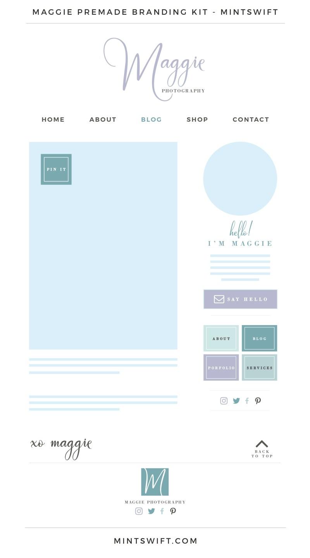 Maggie Premade Branding, Website & Blog Design Kit – MintSwift