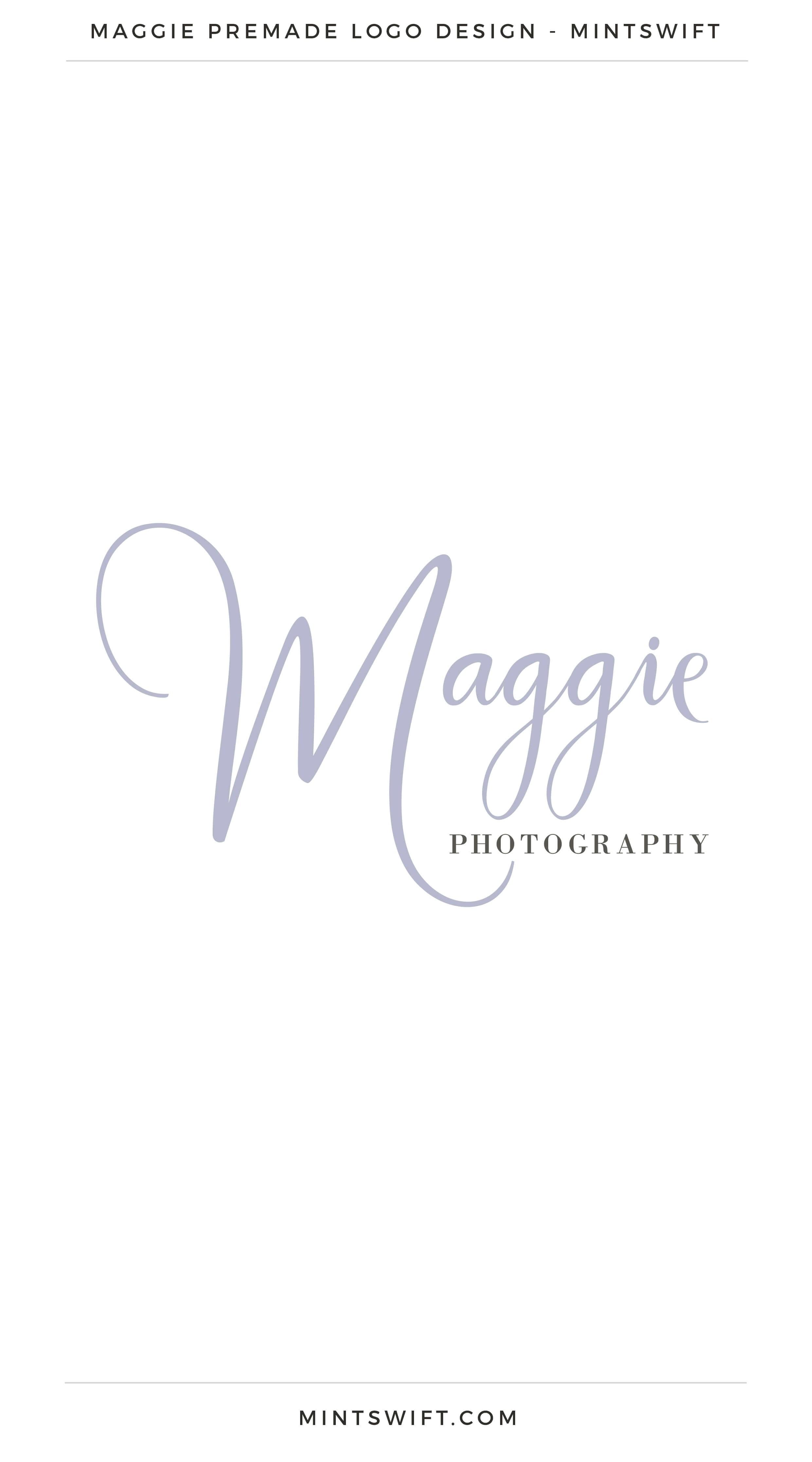Maggie Premade Logo | Premade Logo | Premade logos | Pre-made logo | Premade Brand Design| Branding | Brand Design | Logo Shop | Branding kits shop | MintSwift Shop | Premade logo design | Add-On | Logo Design | MintSwift| Adrianna Glowacka | MintSwift Design
