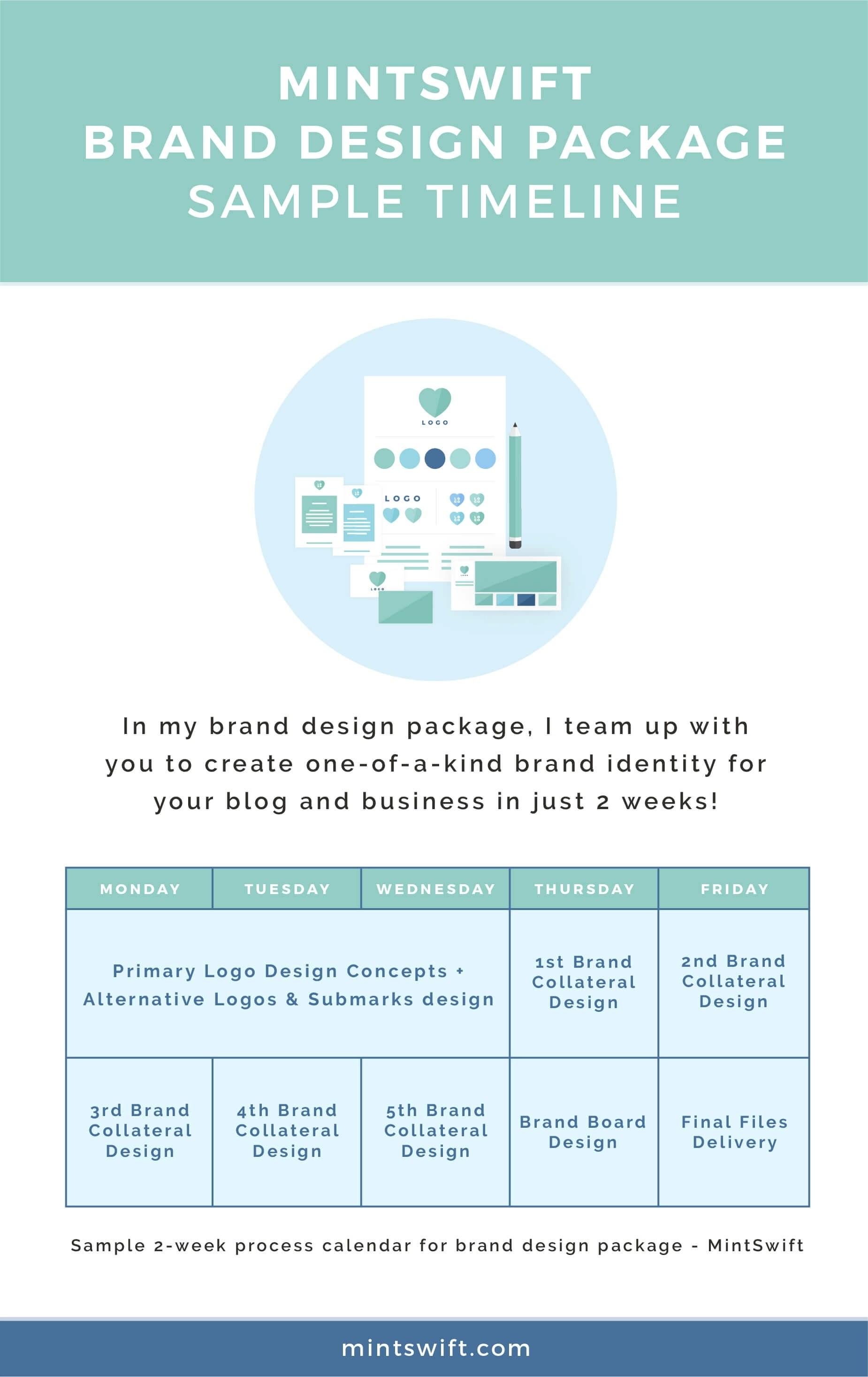 How I Design Brand in 2 weeks An Inside Look at Brand Design – Sample Calendar Timeline
