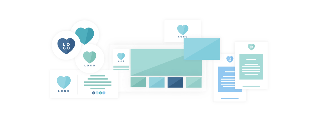 Five brand collaterals Design - Brand & Website Design Package - Process & Deliverables.- MintSwift