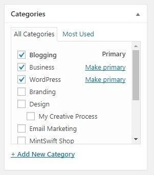 Categories - How to Write a Blog Post in WordPress – MintSwift