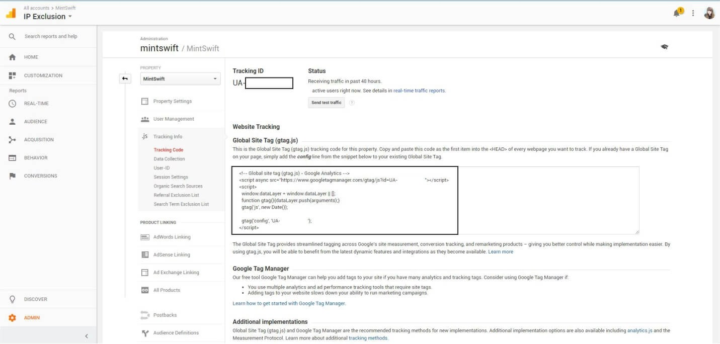 Finding the Google Analytics Tracking Code - How to Add Google Analytics to WordPress – MintSwift