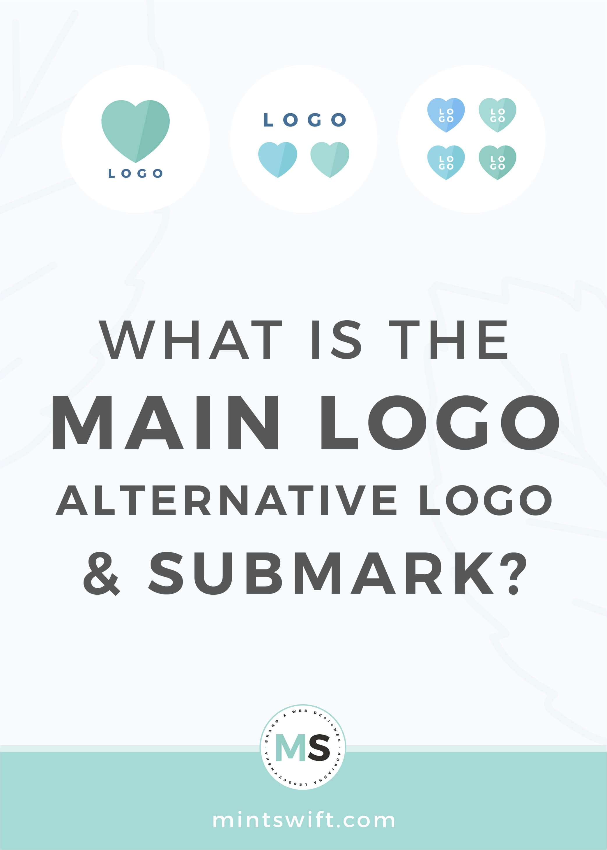 What is the Main Logo, Alternative Logo & Submark - MintSwift