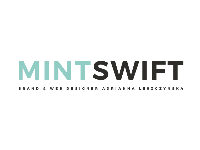 MintSwift - Brand & Web Designer Adrianna Leszczyńska - Brand & e-commerce website design - MintSwift