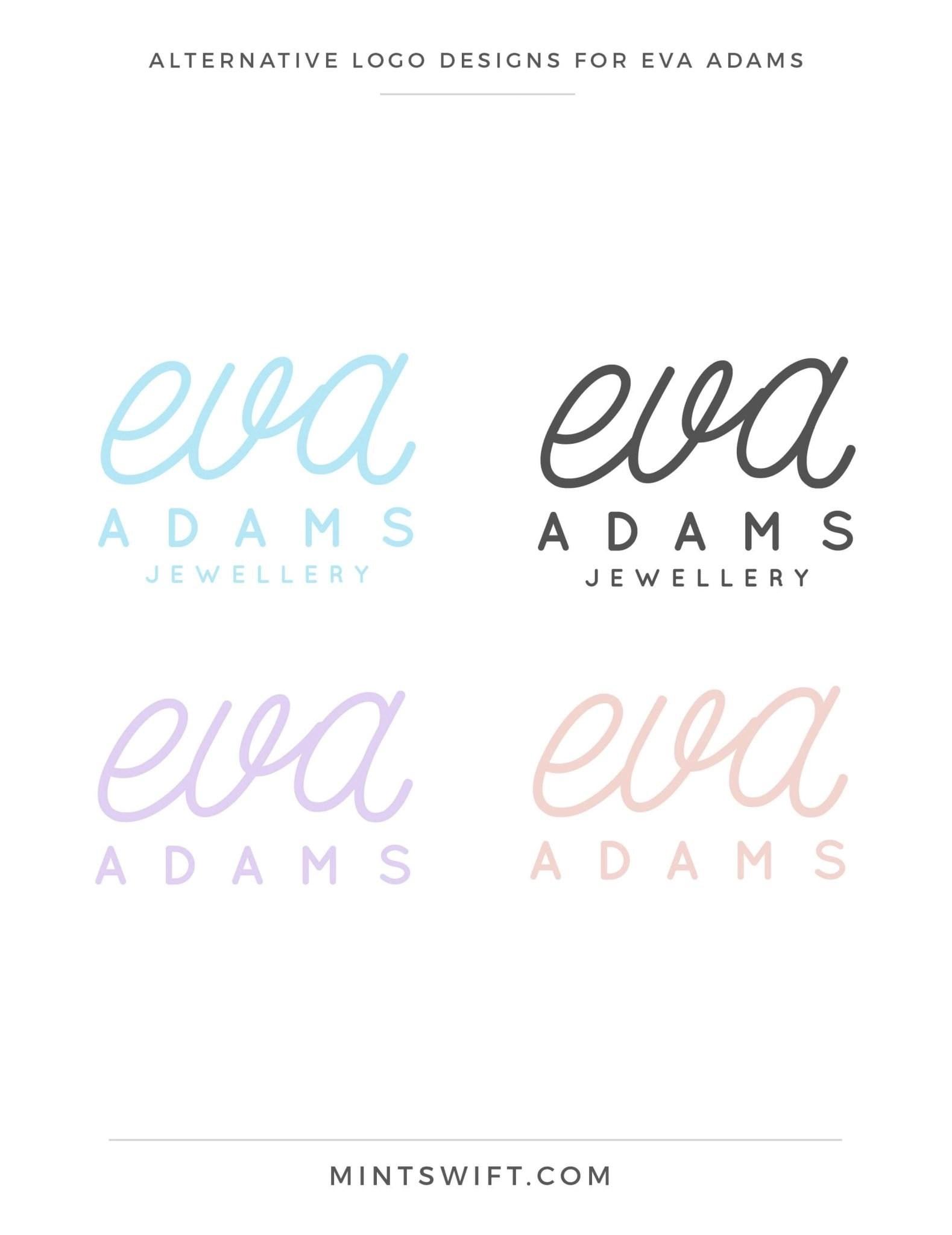 Eva Adams - Alternative logo designs - MintSwift