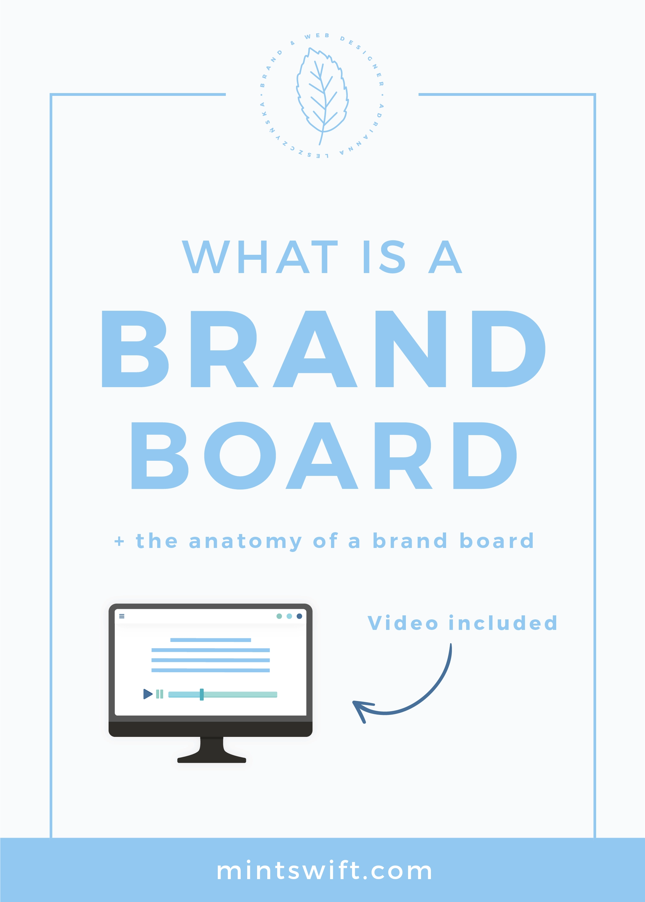 What is a Brand Board + The Anatomy of a Brand Board MintSwift