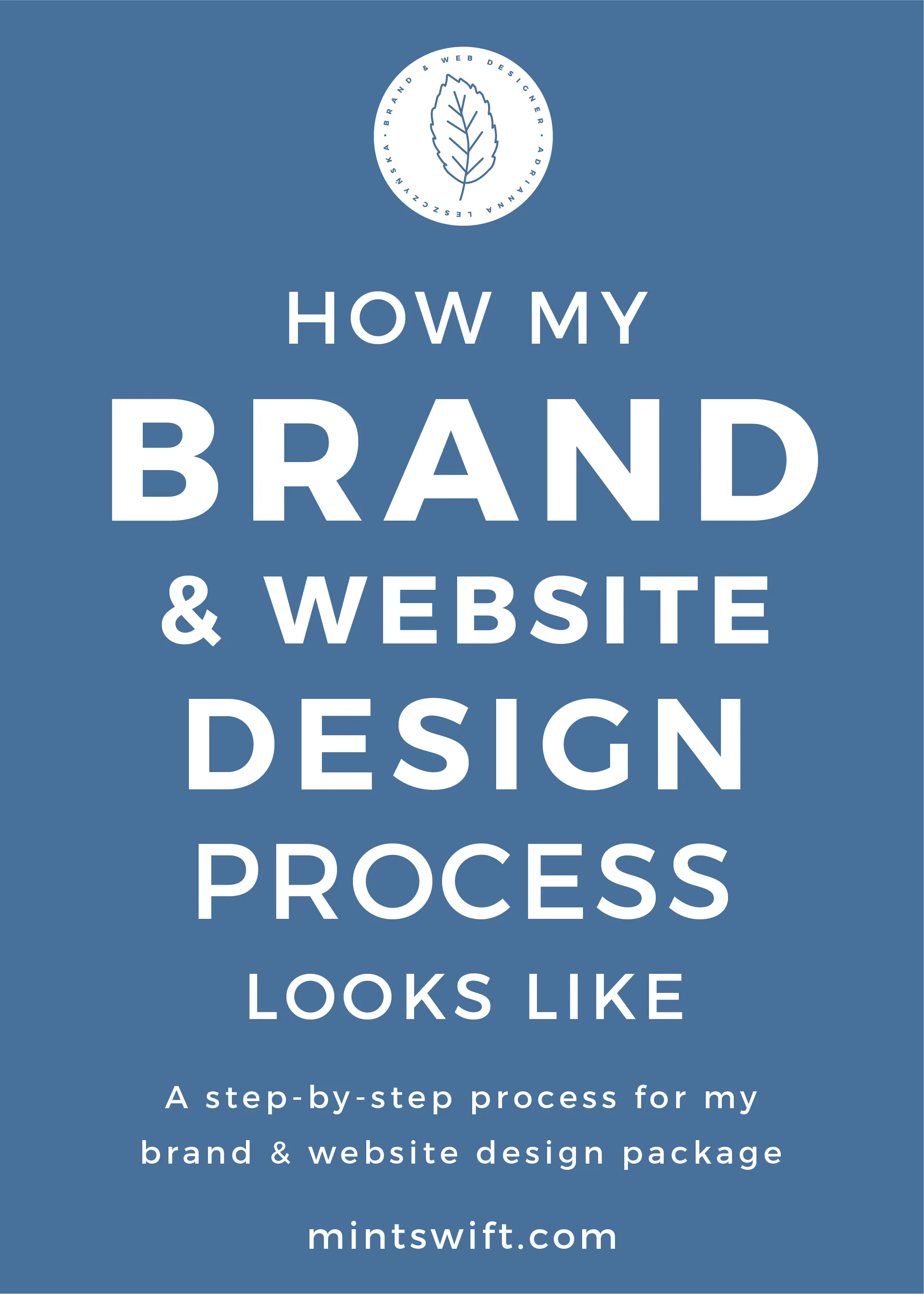 How My Brand & Website Design Process Looks Like. A Step-by-Step Process for My Brand & Website Design Package - MintSwift
