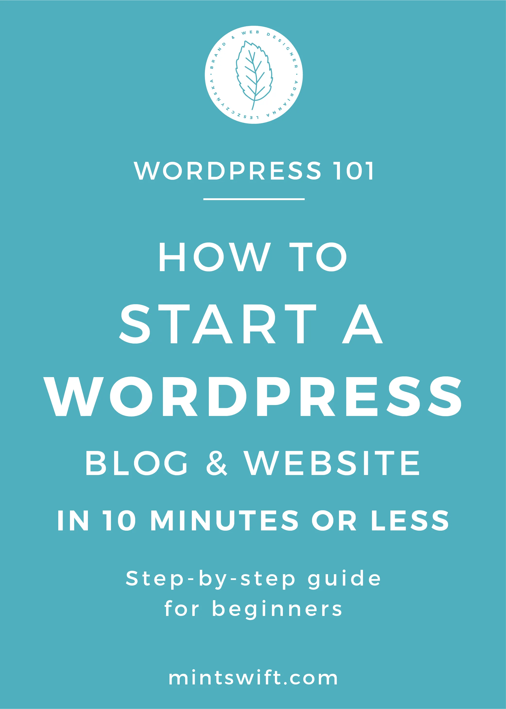 How to Start a WordPress Blog & Website in 10 Minutes or Less. Step-by-Step Guide for Beginners - MintSwift