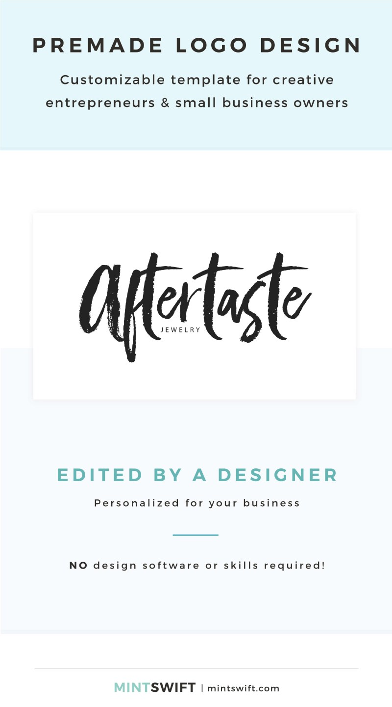 Aftertaste Premade Logo