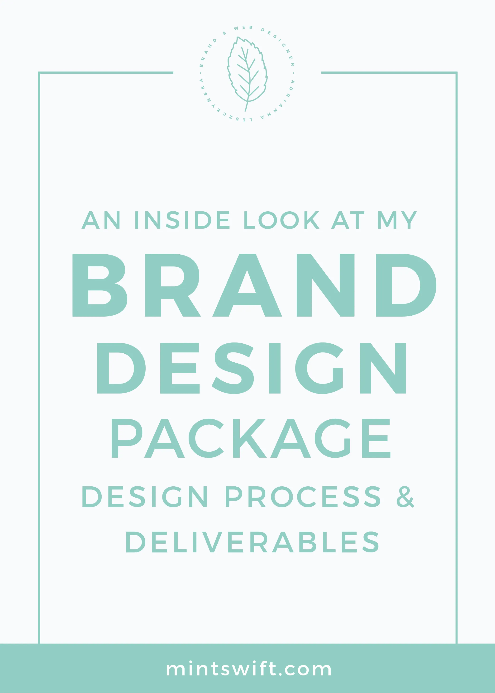 An Inside Look at My Brand Design Package Design Process & Deliverables MintSwift