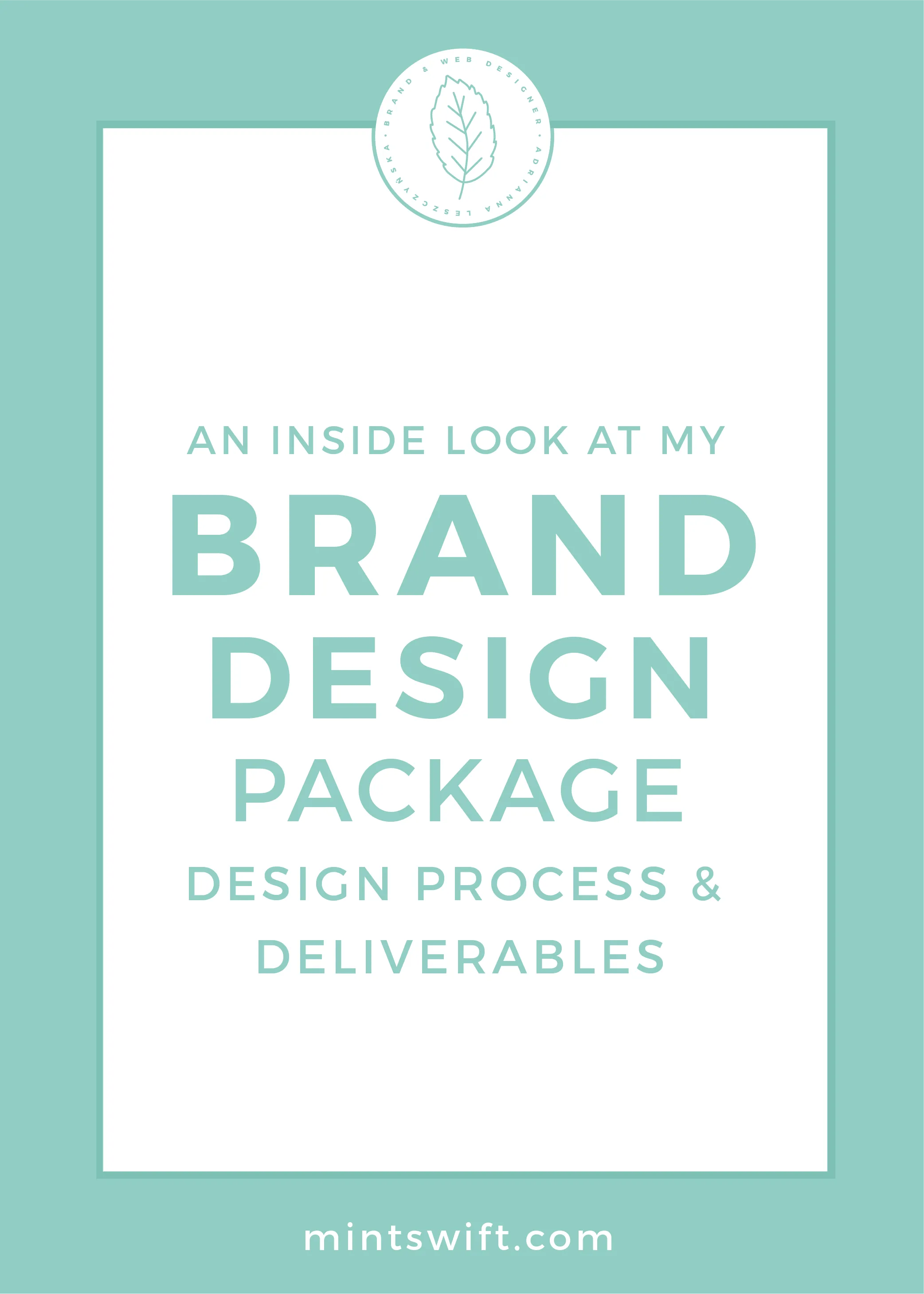 An Inside Look at My Brand Design Package Design Process & Deliverables by MintSwift