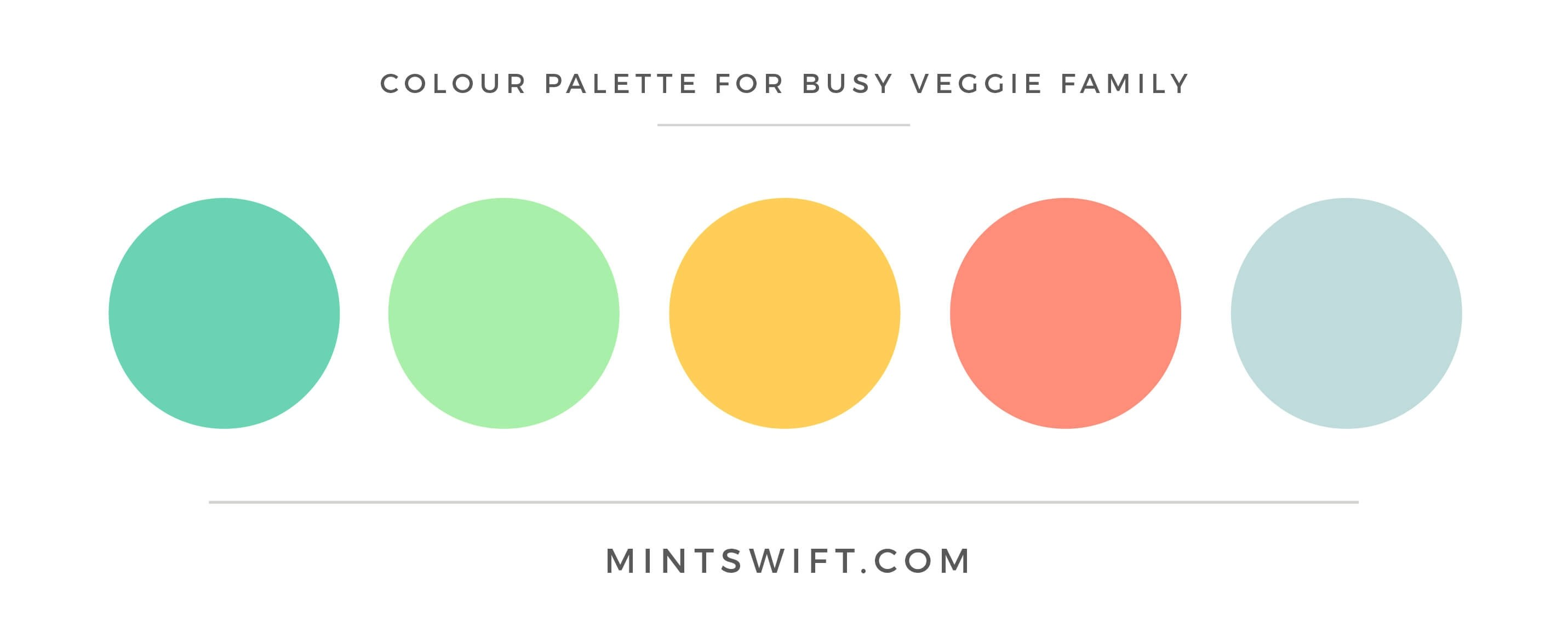 Busy Veggie Family - Colour Palette - Brand & Website Design Package - MintSwift