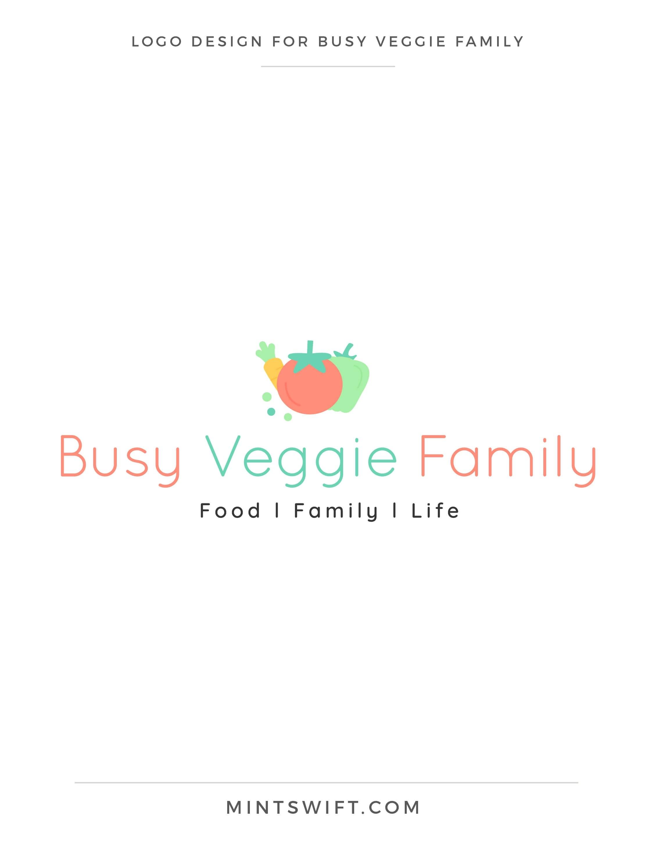 Busy Veggie Family - Logo Design - Brand & Website Design Package - MintSwift