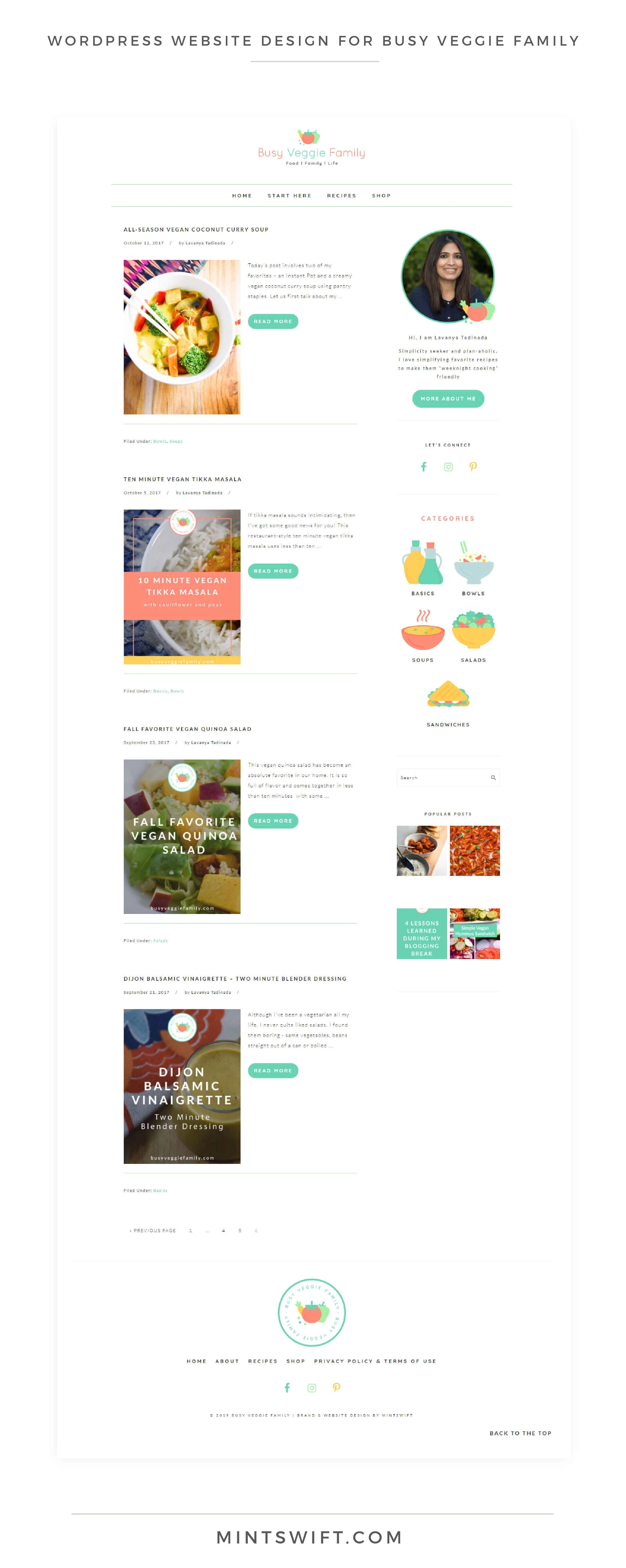 Busy Veggie Family - WordPress Website Design - MintSwift