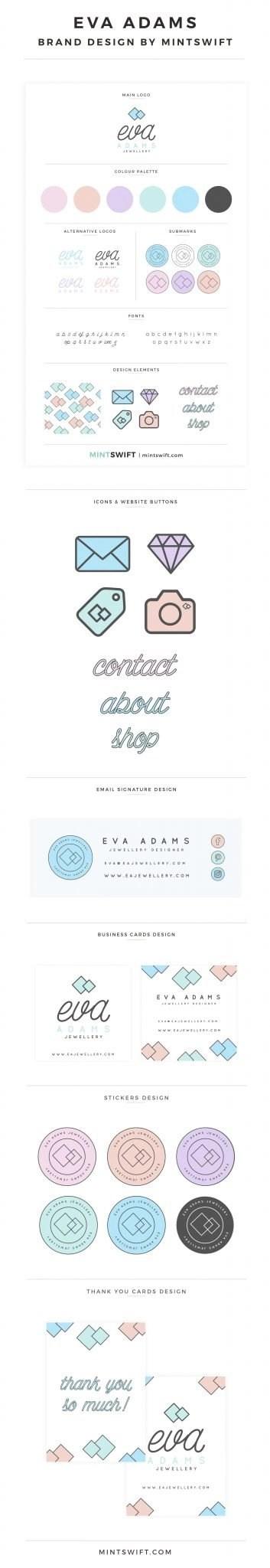 Eva Adams - Brand Design by MintSwift