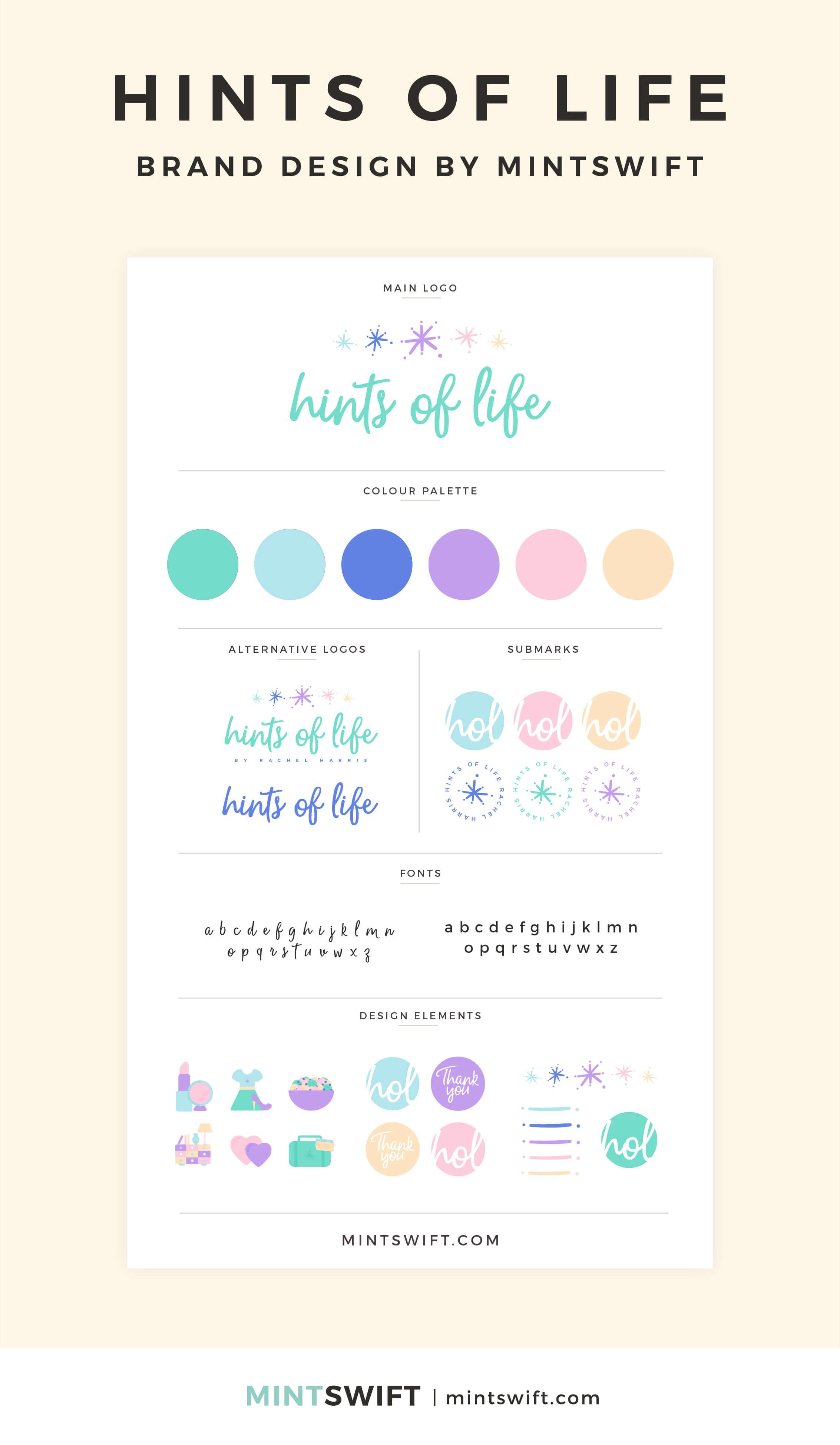 Hints of Life - Brand Design - MintSwift - Adrianna Leszczynska