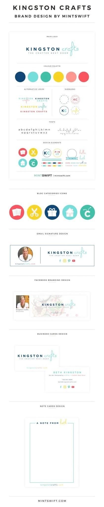 Kingston Crafts- Brand Design - MintSwift