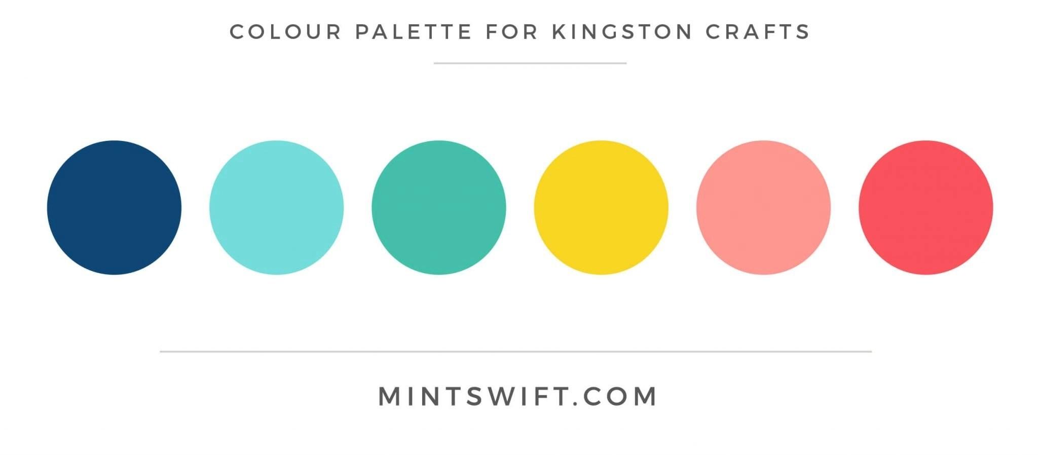 Kingston Crafts - Colour Palette - Brand Design Package - MintSwift