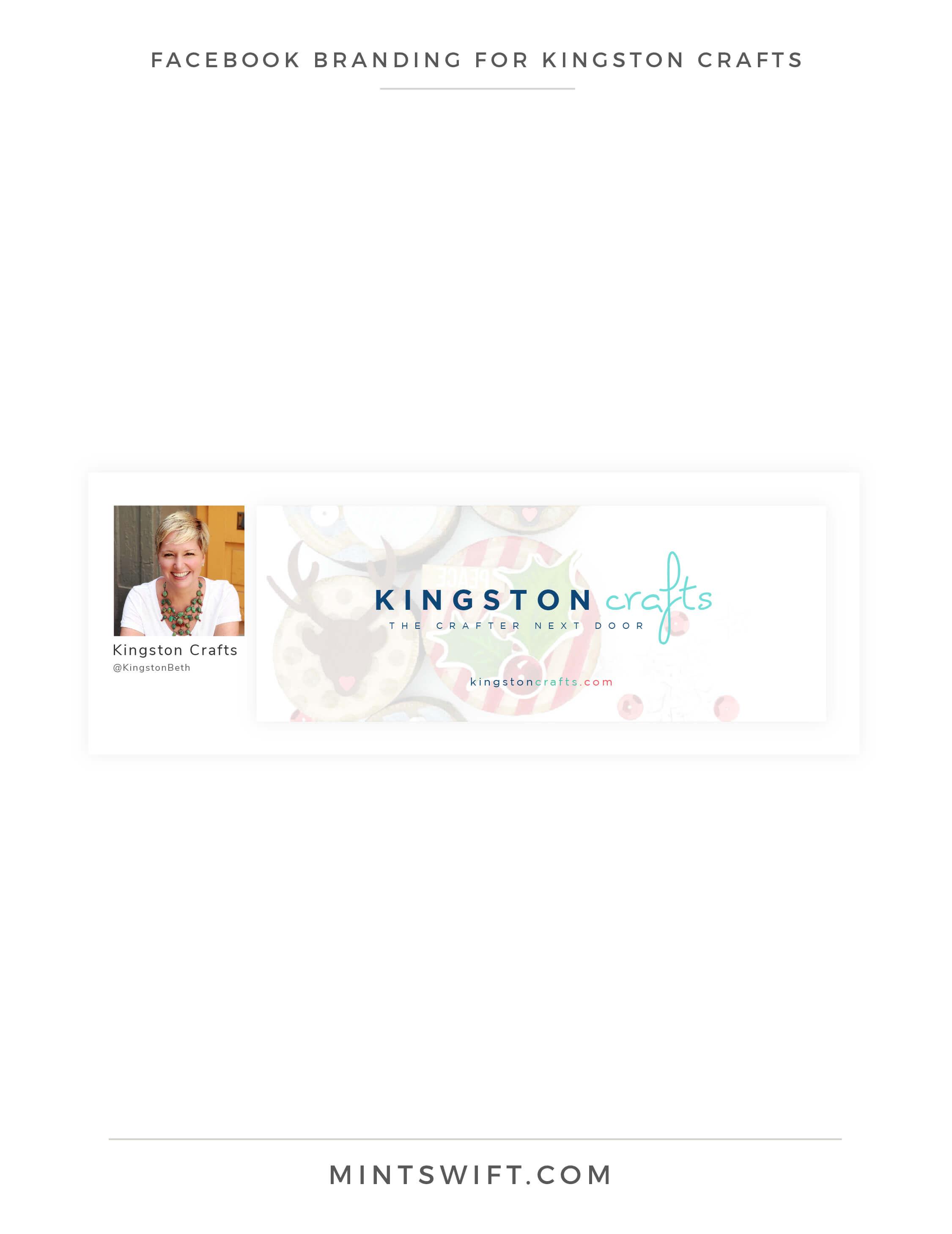 Kingston Crafts - Facebook Branding Design - Brand Design Package - MintSwift