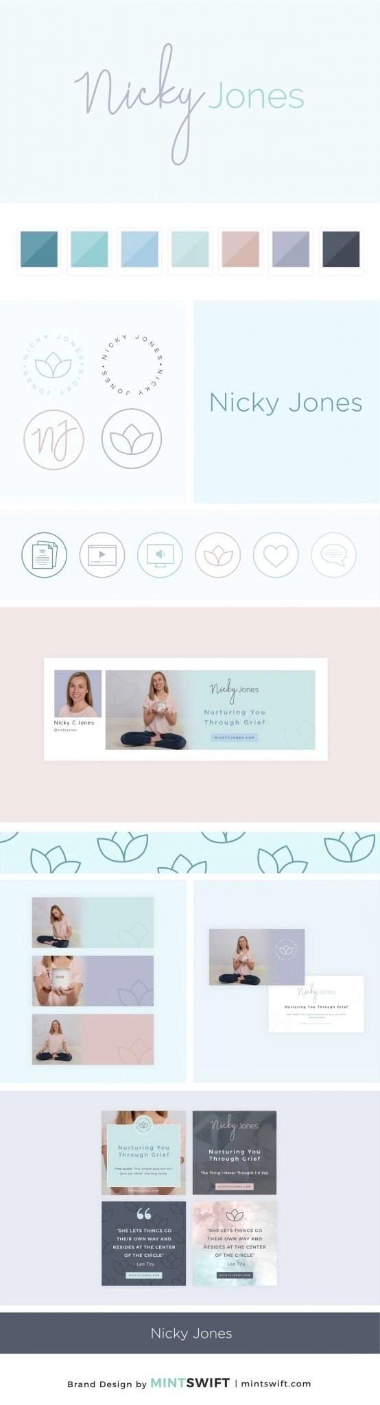 Nicky Jones - Brand Design Package - MintSwift