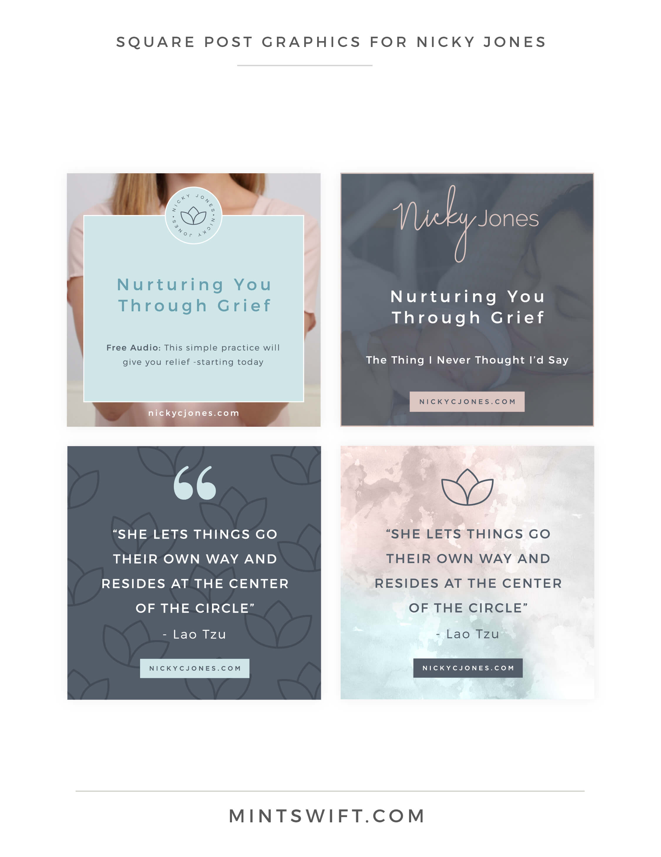 Nicky Jones - Square Post Graphics - Brand Design Package - MintSwift