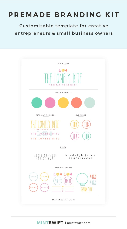 The Lonely Bite Premade Branding Kit