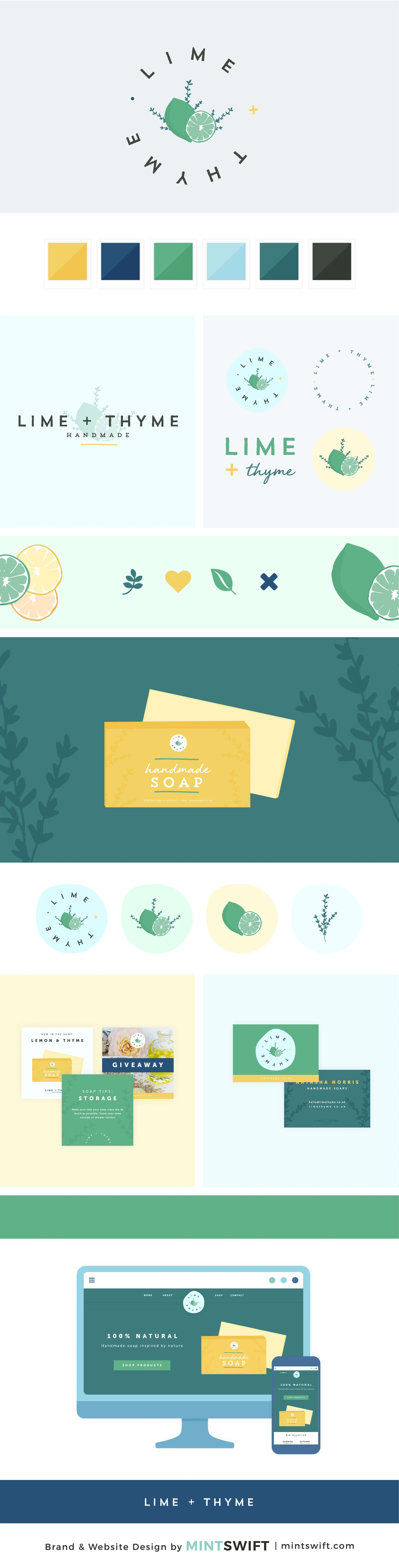 Lime + Thyme - Brand & Website Design Package by MintSwift