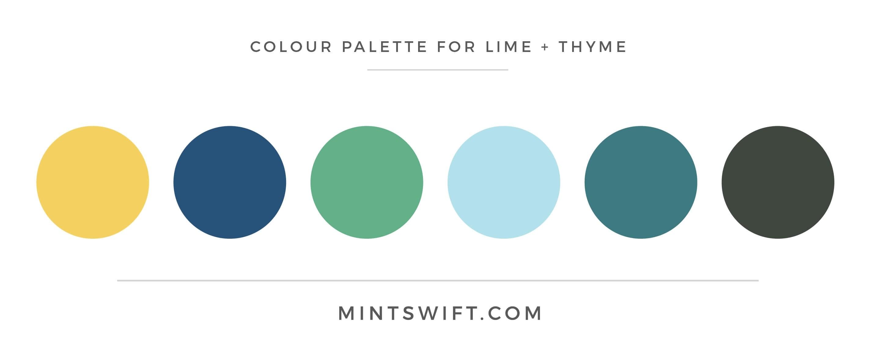 Lime + Thyme - Colour Palette - Brand & Website Design - MintSwift