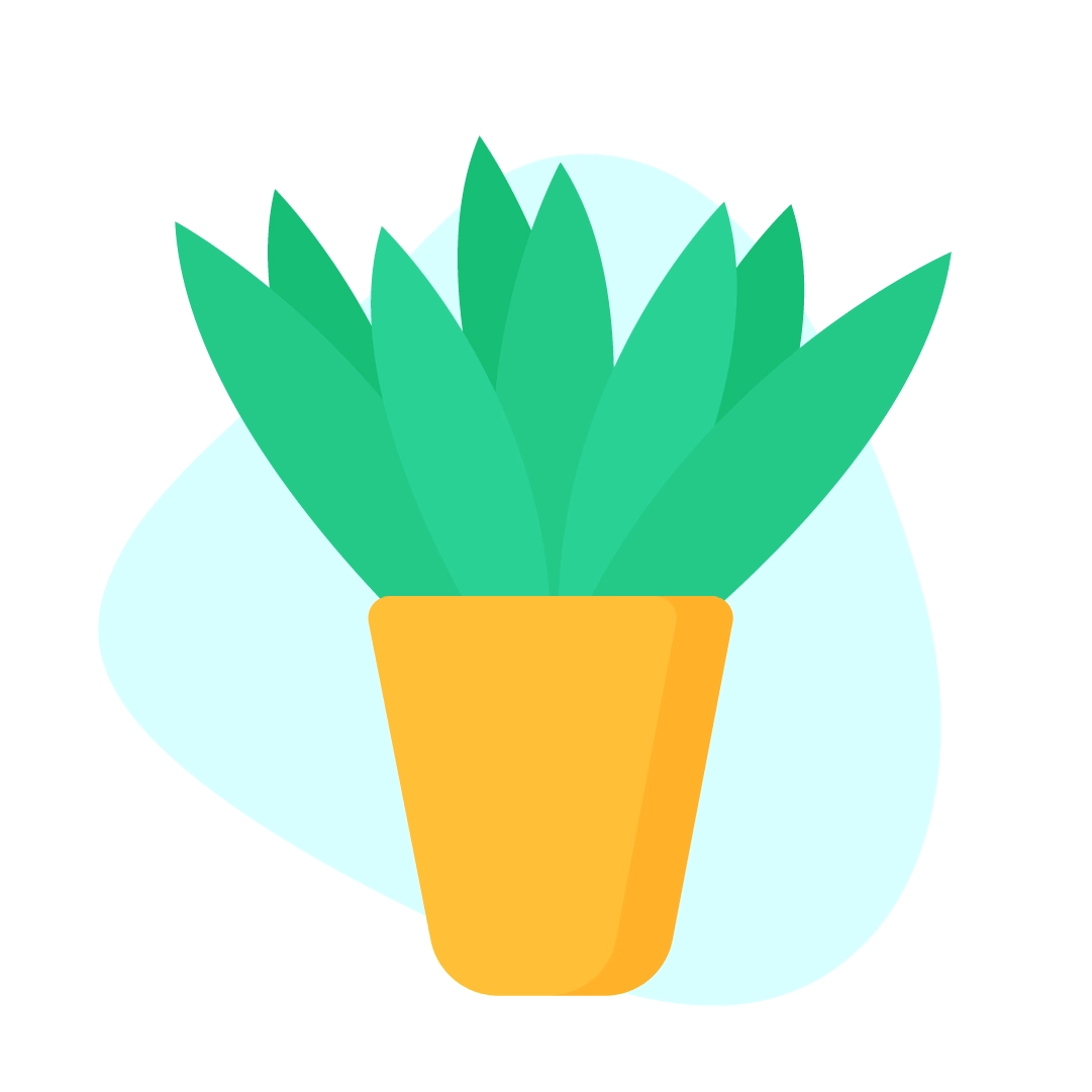 Vector illustration of a Dracaena Janet Craig Compacta Plant in flat design style